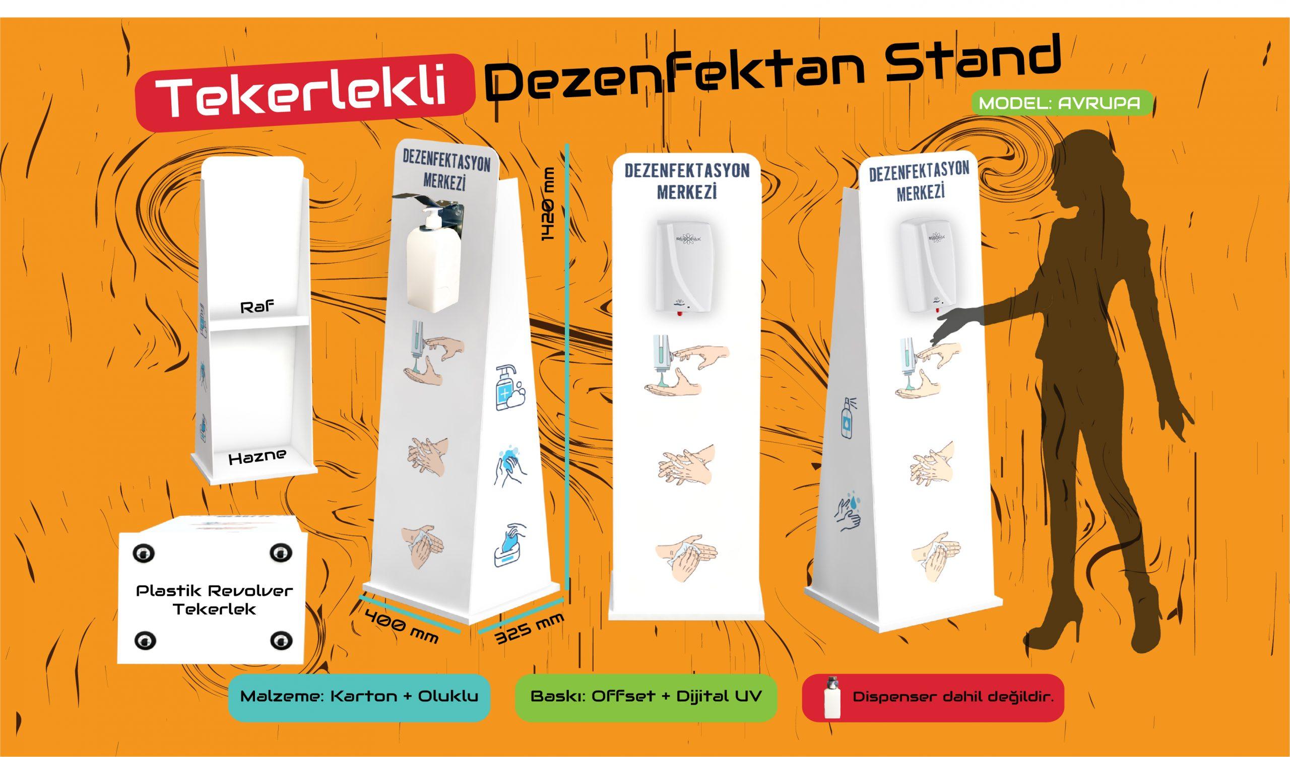 Karton Dezenfektan Standı